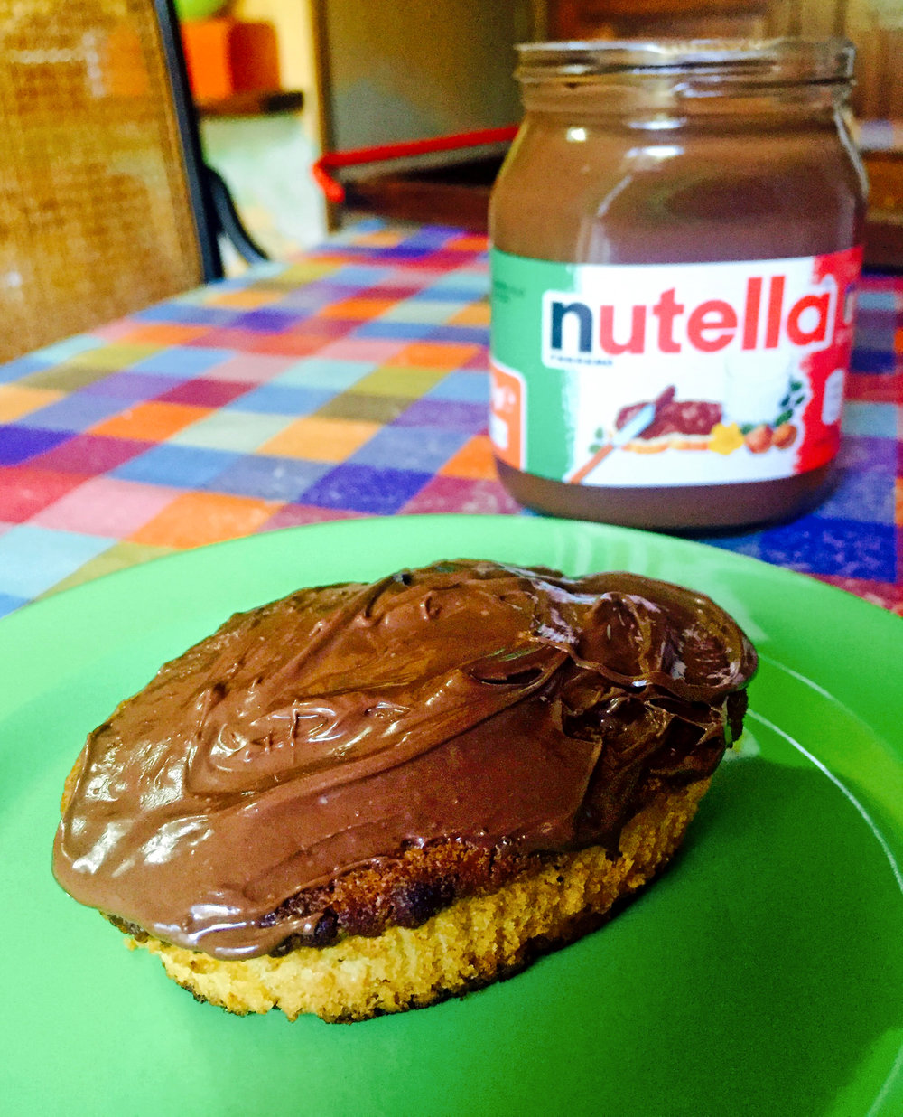 Pasticiotto leccese topped with yummy Nutella