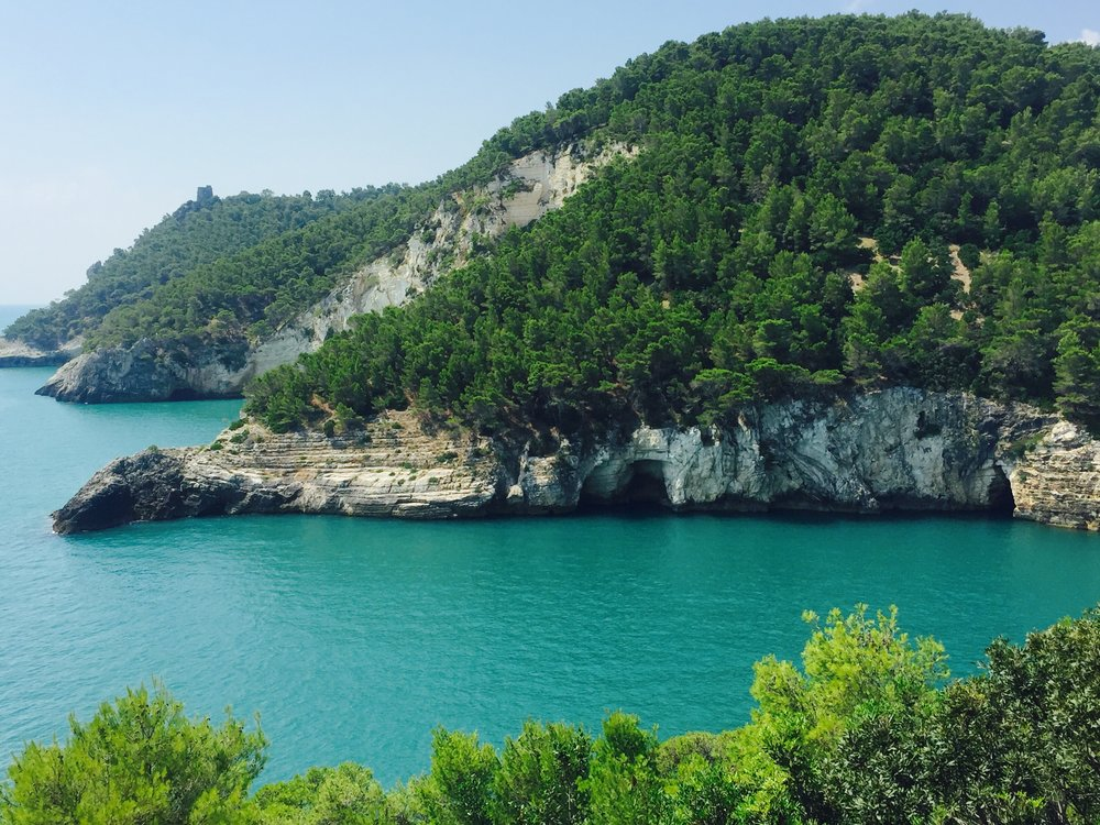 Gargano Coast, driving to Porto Selvaggio