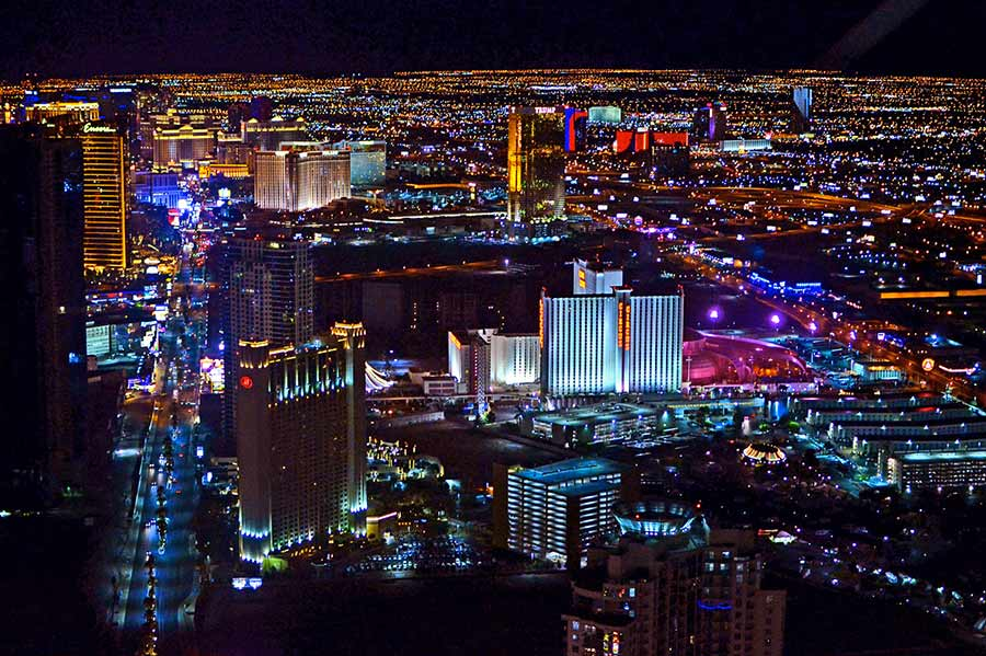 las vegas from top