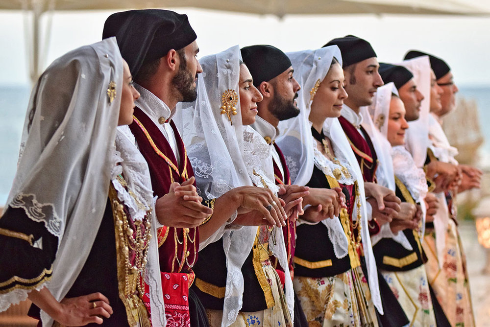 Typical Sardinian costumes