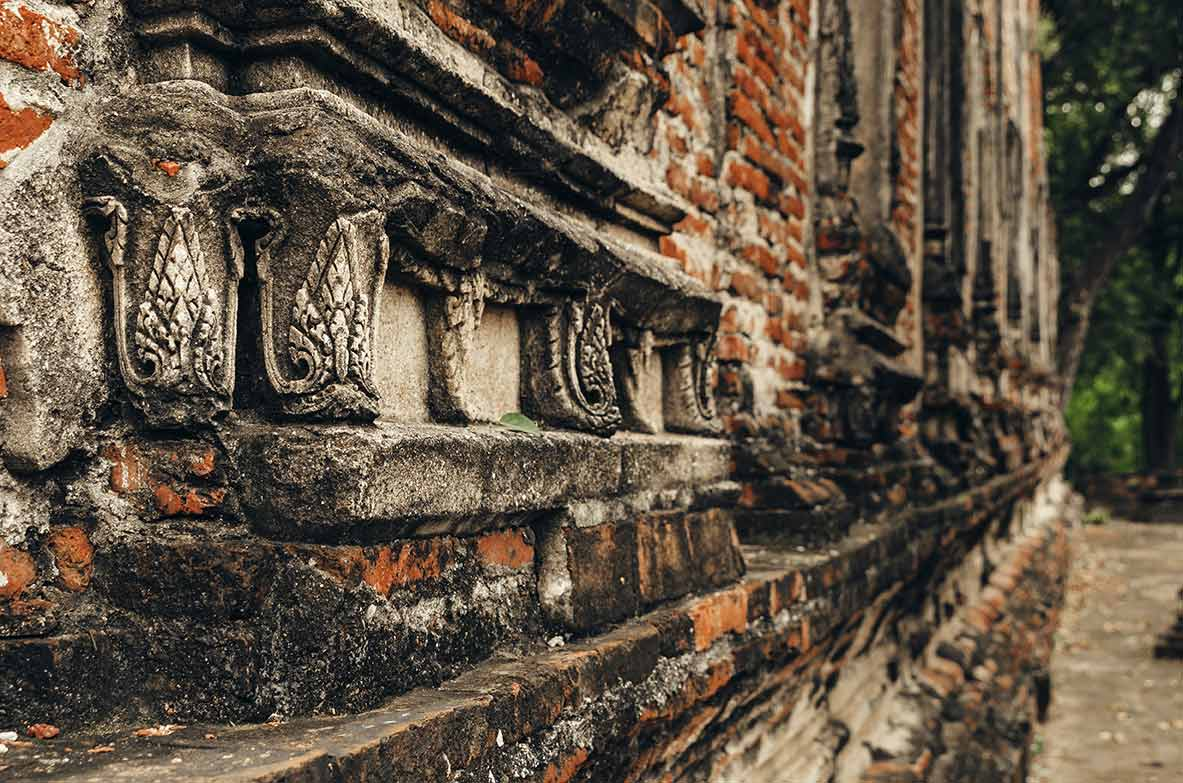 ayutthaya temple detail