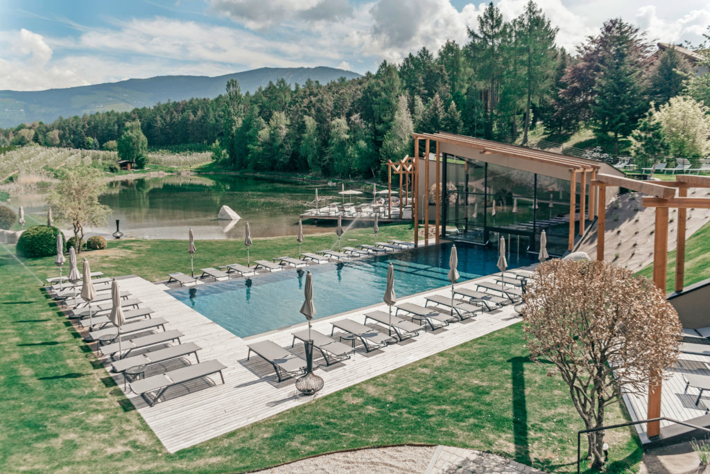 Seehof Nature Retreat Alto Adige pool lake hotel south tyrol bressanone