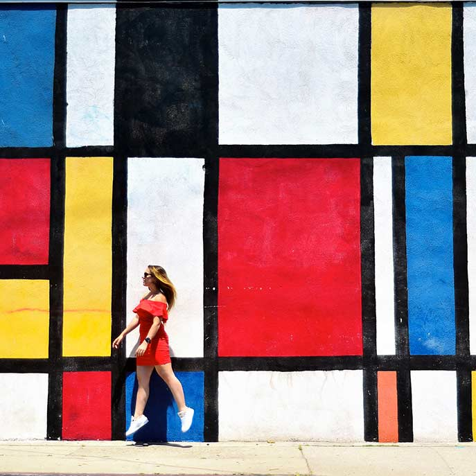irene ferri los angeles mondrian wall