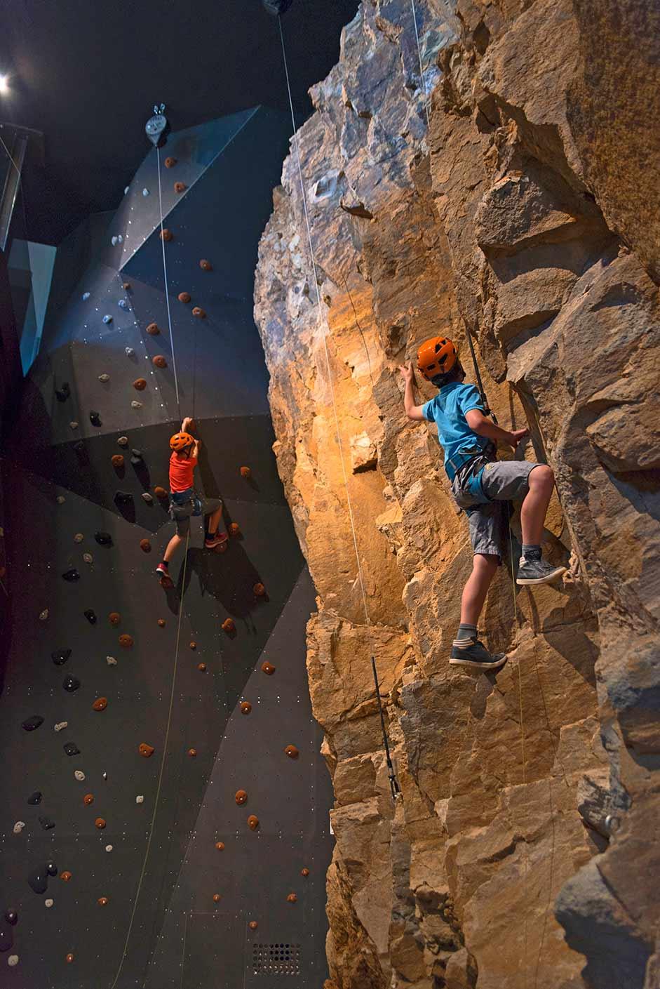 parete roccia scalare hotel fie sciliar
