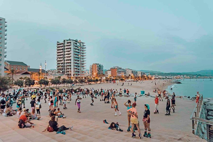 badalona beach barcelona