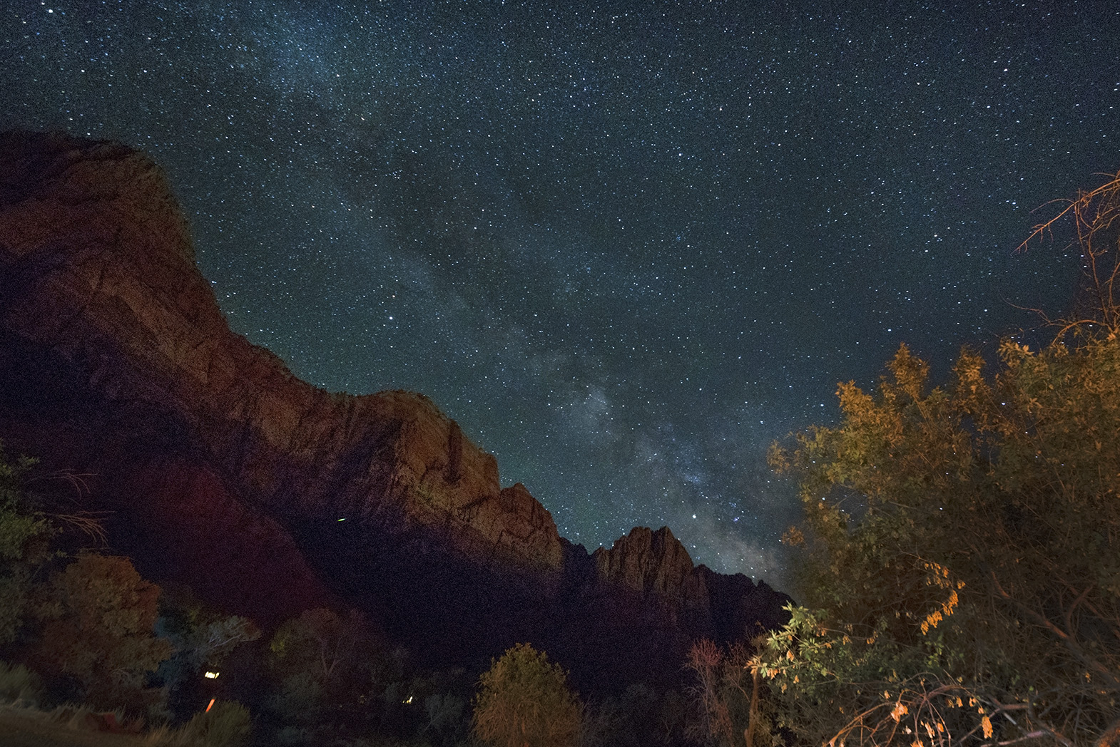 zion national park night